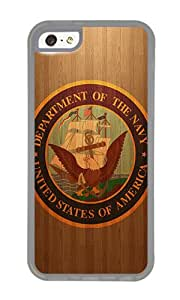 iPhone 5C Case,VUTTOO Stylish Us Navy Logo Soft Case For Apple iPhone 5C - TPU Transparent