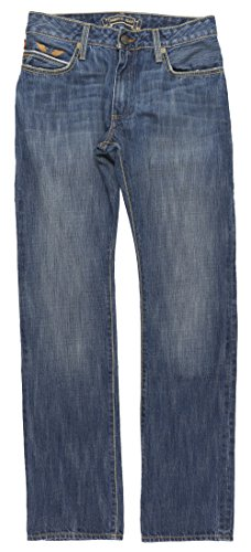 Robin's Jean Red Salvage Mens Straight Leg Denim in Indigo (Straight Studded Jeans Leg)