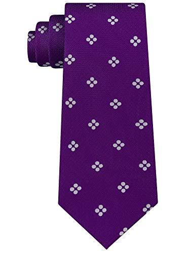 Sean John Men's Tie Purple and White Floral Necktie