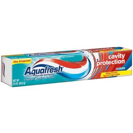 Aquafresh Cavity Protection Fluoride Toothpaste, Cool Mint 3 oz (Pack of 6) (Aquafresh Cavity Protection Toothpaste)