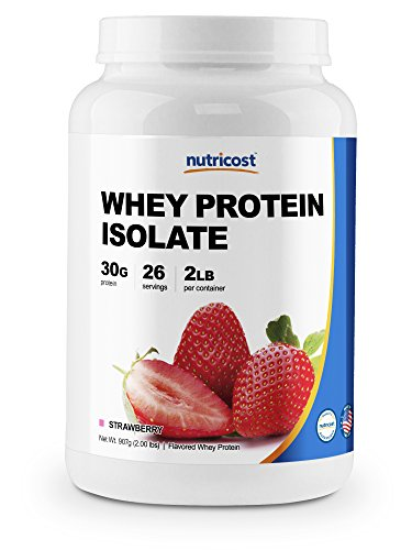 Nutricost Whey Protein Isolate (Strawberry) 2LBS