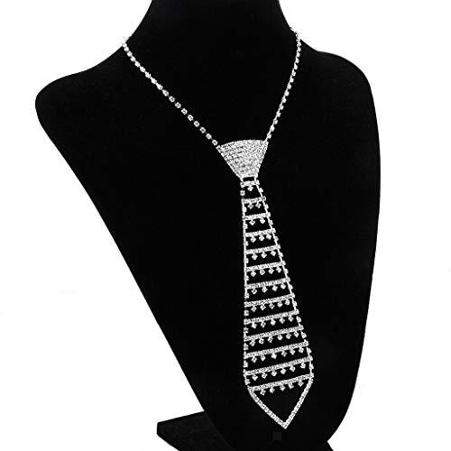 Crystal Rhinestone Necktie Tie Choker Necklace Collar Jewelry Wedding Prom Necklace Jewelry Crafting Key Chain Bracelet Pendants Accessories Best -