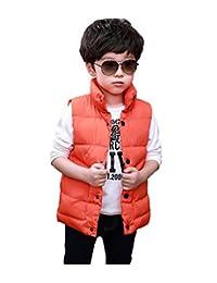 Tortor 1Bacha Kid Boys' Stand Collar Solid Puffer Vest