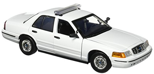 - Motormax 1:18 White 2001 Ford Crown Victoria Unmarked Police Car, White