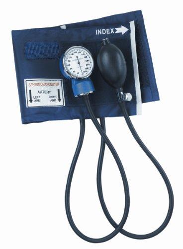 Aneroid Sphygmomanometer Blue Nylon Cuff - Mabis Dmi Healthcare 01-149-011 Economy Aneroid Sphygmomanometer - Adult, Blue