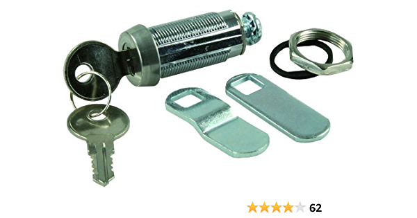 """RV Designer L328 1-1//8/"""" Compartment Door Cam Lock with Ace Key 4pk"""