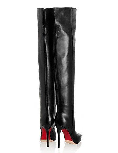 Puntiagudos Moda Mujer Eu36 Xzz Uk4 Noche Black Oficina Stiletto Trabajo La us6 Casual Tacón Cn36 Zapatos Botas De Semicuero Fiesta A Y wHHqEzoX
