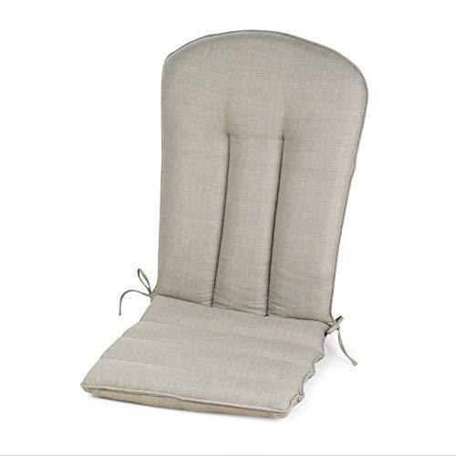 Light Grey Gray Outdoor Adirondack Cushion Patio Seasonal Replacement Pad for Adirondack Chair ()