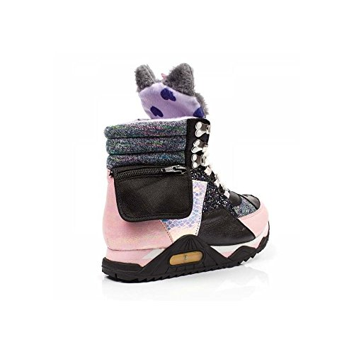 brand new unisex sale online geniue stockist online Irregular Choice Candy Jem Cat Grey Hi Top Trainers Black/pink cheap get authentic cheap price free shipping great deals online jYiyvm71