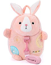 Me Too Kids Leash Bags Toddler Backpack with Safety Harness Playful Preschool Kids Diaper Bag for Little Children(12-36M) Pink Bunny