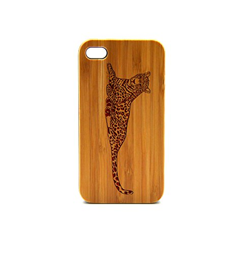 Krezy Case Real Wood iPhone 4s Case, leopard iPhone 4s Case, Wood iPhone 4s Case, Wood iPhone Case,