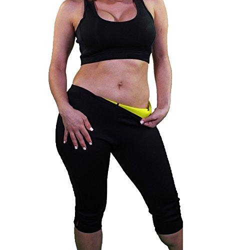 f44156bbc85d9 Dodoing Womens Sweat Sauna Body Shaper Pant Hot Thermo Shapers Capri Pants