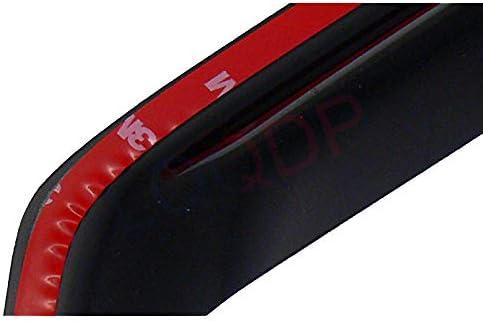 LQQDP Set of 4 Front+Rear Smoke Sun//Rain Guard Outside Mount Tape-On Acrylic Window Visors For 92-00 Chevy//GMC C//K Crew Cab 92-99 Suburban 95-99 Tahoe//Yukon 4-Door 00 5.7L V8 99-00 Cadillac Escalade