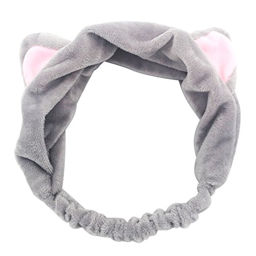 Price comparison product image M-FIT Beauty Hair Band with Cat Ears for Girls (Gray)