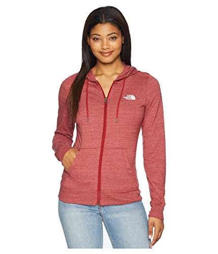 The North Face Women's Americana Tri-Blend Full Zip Hoodie - Cardinal Red Heather - XL (Cardinals Womens Red Hoody Sweatshirt)
