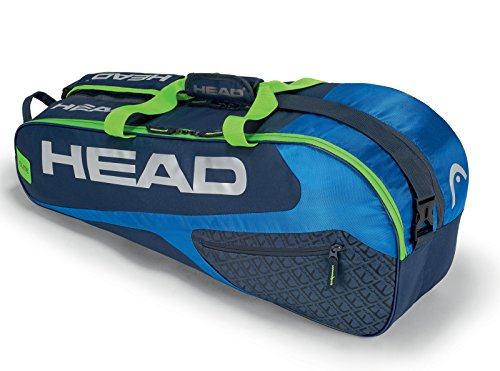 HEAD Elite Combi 6 Racquet Bag (Blue/Green)