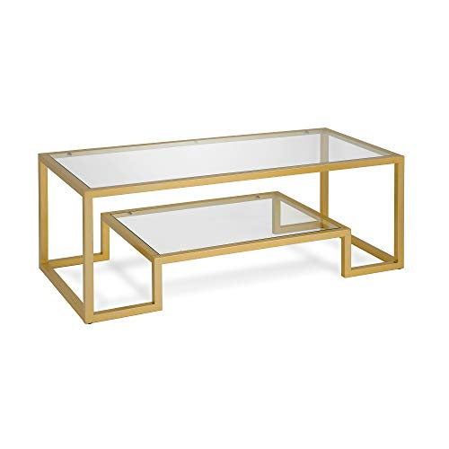 Henn&Hart CT0066 Coffee Table, One Size Gold (Large Coffe Table)