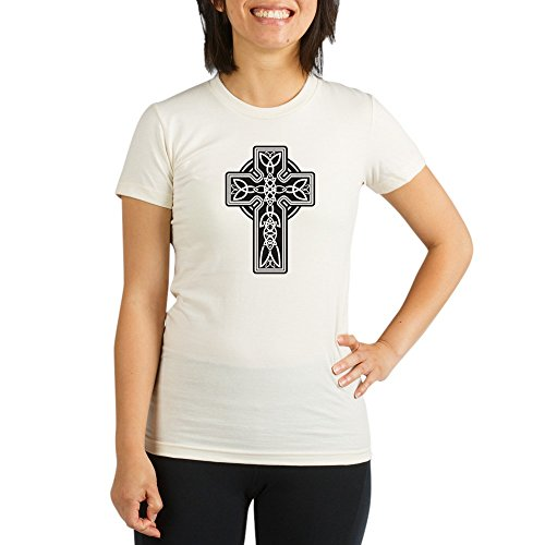 Royal Lion Organic Womens Fitted T-Shirt Celtic Cross - XL