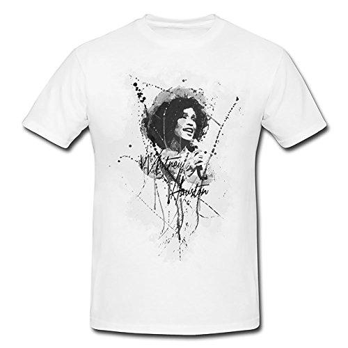Whitney-Houston-II T-Shirt Herren, Men mit stylischen Motiv von Paul Sinus
