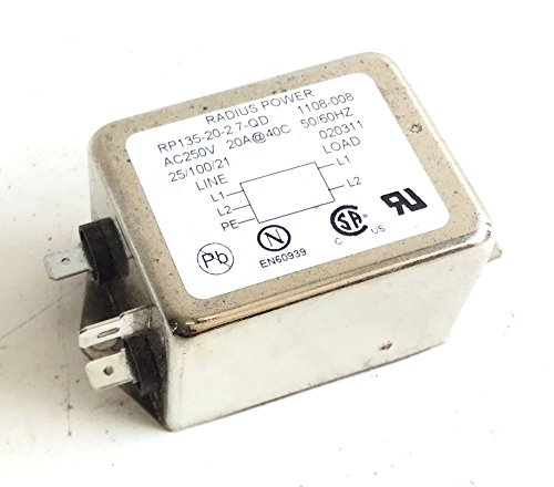Life Fitness AC Line Filter RP135-20-2.7-QD 0017-00003-1015 or Corcom f4354 Works Commercial Treadmill