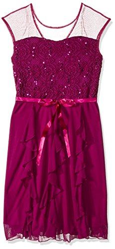 Speechless Big Girls' Sequin Lace/Chiffon Corkscrew Dress...