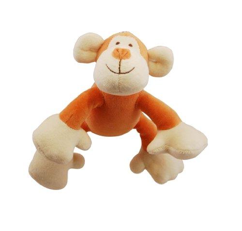 Simply Fido Organic Plush 6-Inch Petite Pet Toy, Oscar Monkey
