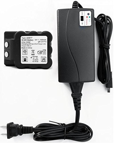 AdirPro GEB77 NiMH Battery for Leica TPS1000, TC400 to TC905 total stations with a GKL22 Charger by AdirPro