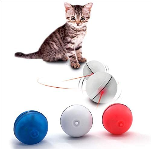SZMYLED Cat Toys LED Ball Interactive Automatic Rolling Ball for Cat Toy Replaceable battery LED light Entertainment Cat Balls Pet Exercise Balls For Kitten Puppy,Blue ball