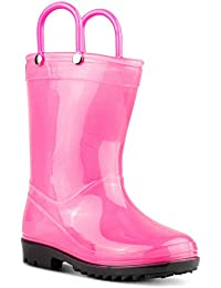 Kids Rainboots, Waterproof, Pull Handles, Fun Colors, Anti-Slip, All Sizes