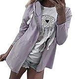 Spbamboo Womens Outerwear Long Sleeve Irregular Loose Hooded Zipper Casual Coat