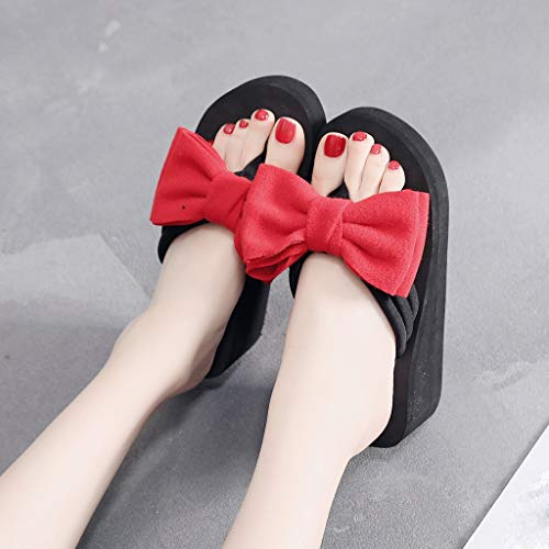 Flip Chaussons Chaussures Coins Plage Femmes Flops Rouge Sandales made A Cristal Hand tCtZyqIR