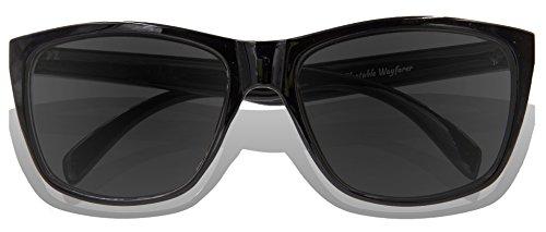 KZ Revo soleil adulte Black Lens Frame Black de Full Glossy Lunettes H1xqHrwZ