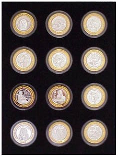 (Tiny Treasures, LLC. Black Silver Strike Display Insert for 12 Silver Strikes Casino Coins (Not Included))