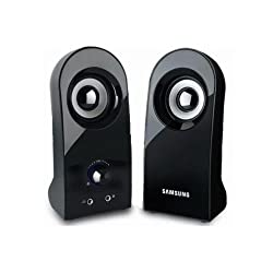 [SAMSUNG] SMS-M70U laptop 2ch Stereo Speaker, 3.5mm, 1x2W, Black - USB Powered