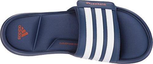 adidas Performance Herren Superstar 5g Slide Sandale Edler Indigo / Orange / Weiß