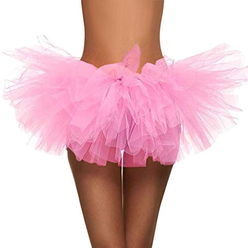 (SSYongxia❤ Women Classic 5 Layered Tulle Tutu Skirt -Adult Ballet Style Tutu for Valentines, Princess Tutu, Dance)