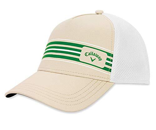 Callaway Golf 2019 Stripe Mesh Hat, Khaki/White/Green (Best Mens Hats 2019)