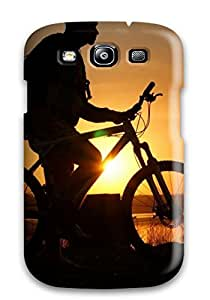 Durable Defender Case For Galaxy S3 Tpu Cover(biking Free Style Photography)