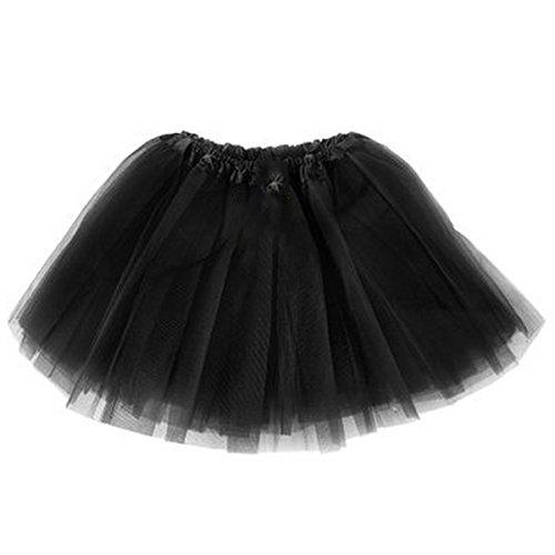[Jastore Girls' Toddlers Tutu Classic Triple Layer Ballet Dance Skirt (Black)] (Black Ballet Dance Costumes)