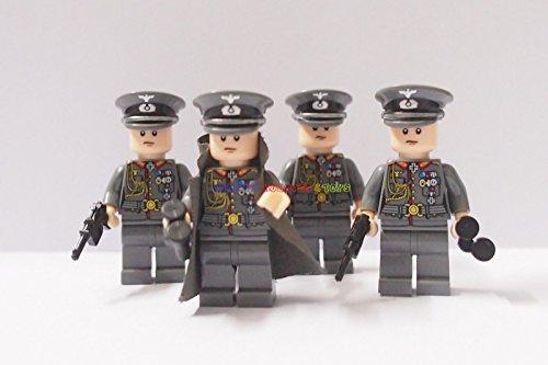 [German Minifigures 4 General Commander Soldiers] (Female Adventurer Costume Ideas)