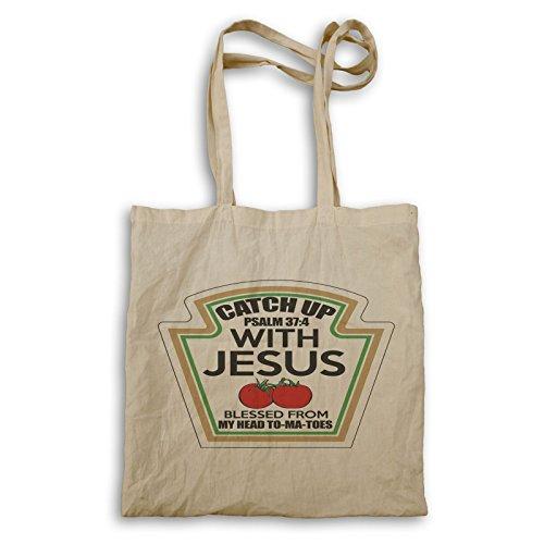 INNOGLEN Ponte al día con Jesús Funny Tomato bolso de mano aa116r