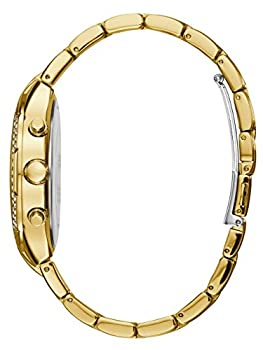 Guess Women's Stainless Steel Crystal Accented Bracelet Watch, Color: Gold-tone (Model: U0628l2) 3