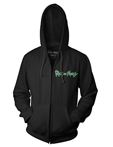 Ripple Junction Rick and Morty Brian Allen Group Illustration 3rd Place Adult Zip Hoodie XL Black (Best Of Hoodie Allen)