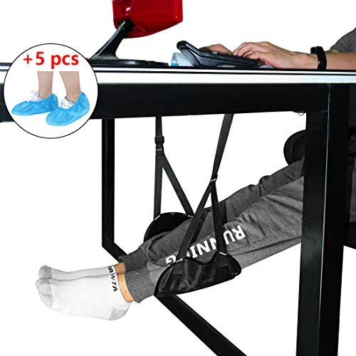 Airplane Footrest Portable Fit Long Travel Rest Foot Hammock Leg Support Travel legrest Premium Memory Foam