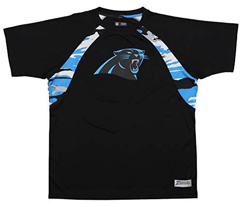 Zubaz NFL Men's Camo Solid T-Shirt, Carolina Panthers XX-Large