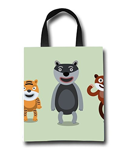 Cartoon Africa Beach Tote Bag - Toy Tote Bag - Large Lightweight Market, Grocery & Picnic by Linhong