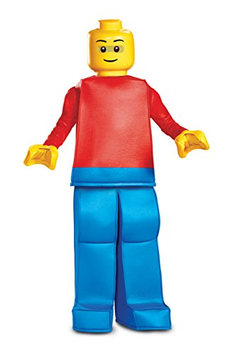 Lego Brick Halloween Costume (Disguise Lego Guy Prestige Child Costume, Red,)