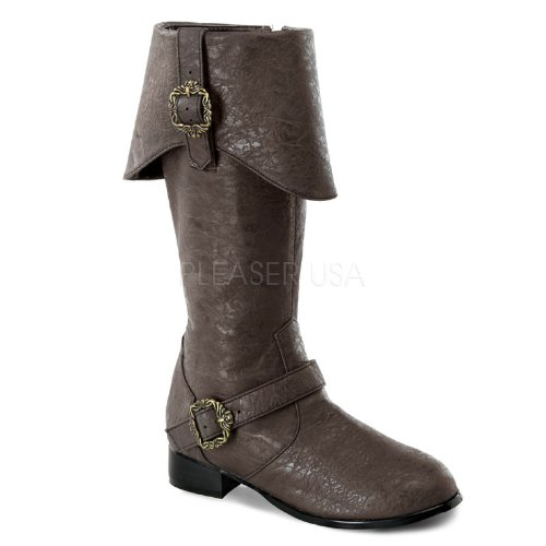 Children's Funtasma  1 Inch Heel, Pirate Brown Distressed Knee Boots Size: Large