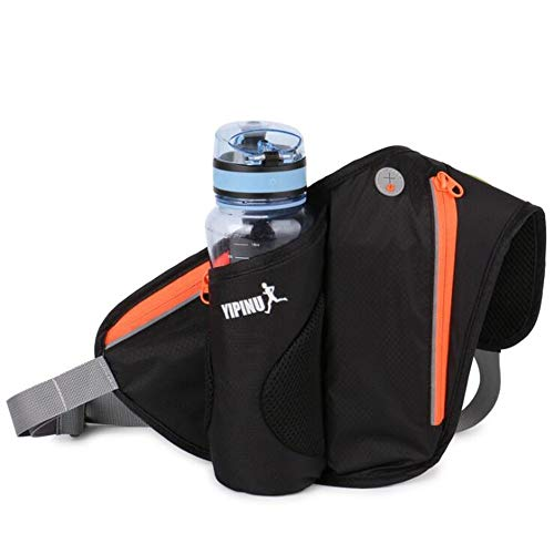 XUBA Unisex Sports Bag Running Mobile Phone Bag Outdoor Cycling Waterproof Kettle Bag Black One Size