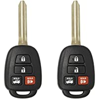 Keyless2Go New Keyless Entry Remote Car Key for Vehicles That Use HYQ12BDM, HYQ12BEL with H Chip (2 Pack)